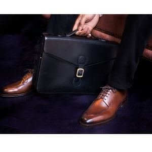 Edward Green London briefcase authentic luxury